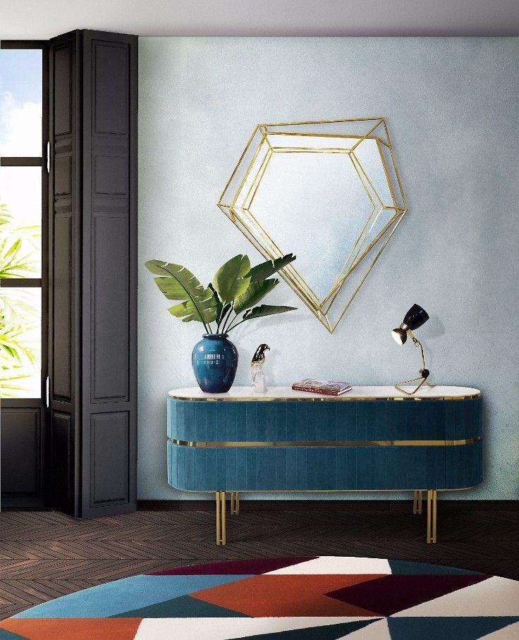 Diamond Mirror Mid Century Modern Furniture By Essential Home