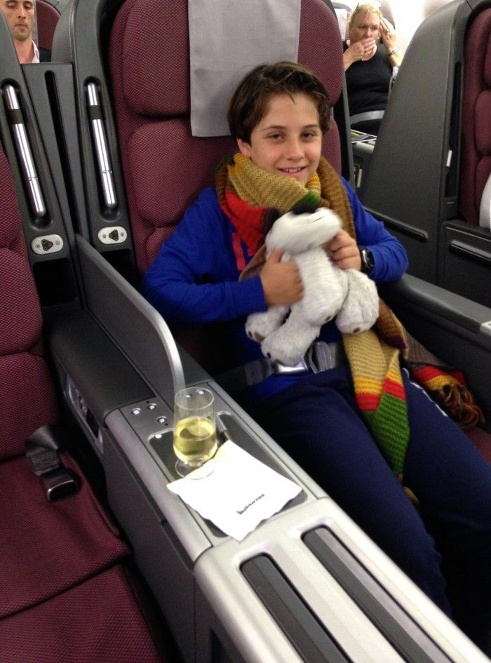 Qantas Business Cl - Airline Review, travelling with kids ...
