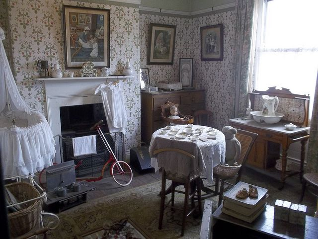 beamish, north of england open air museum terraced house interior\