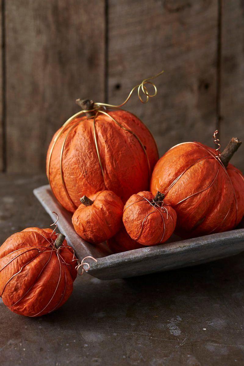 Fabulous Faux Pumpkin Ideas Crepe Paper Pumpkins Fabulous