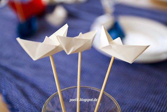 Im Boot-Fieber: Tischdeko für Seefahrer*