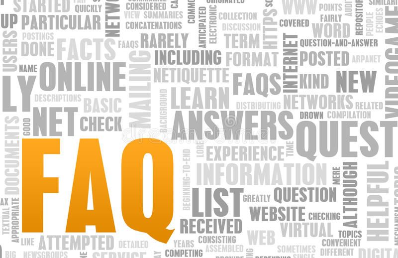 Faq or frequently asked questions online art sponsored