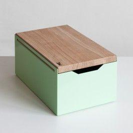 bread box brotkasten aus stahlblech ideen rund ums haus pinterest brotkasten k stchen. Black Bedroom Furniture Sets. Home Design Ideas
