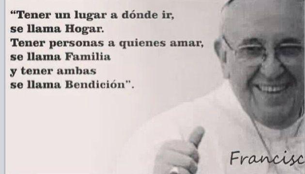 Hogar Y Familia Bendicion Papa Francisco Frases Frases