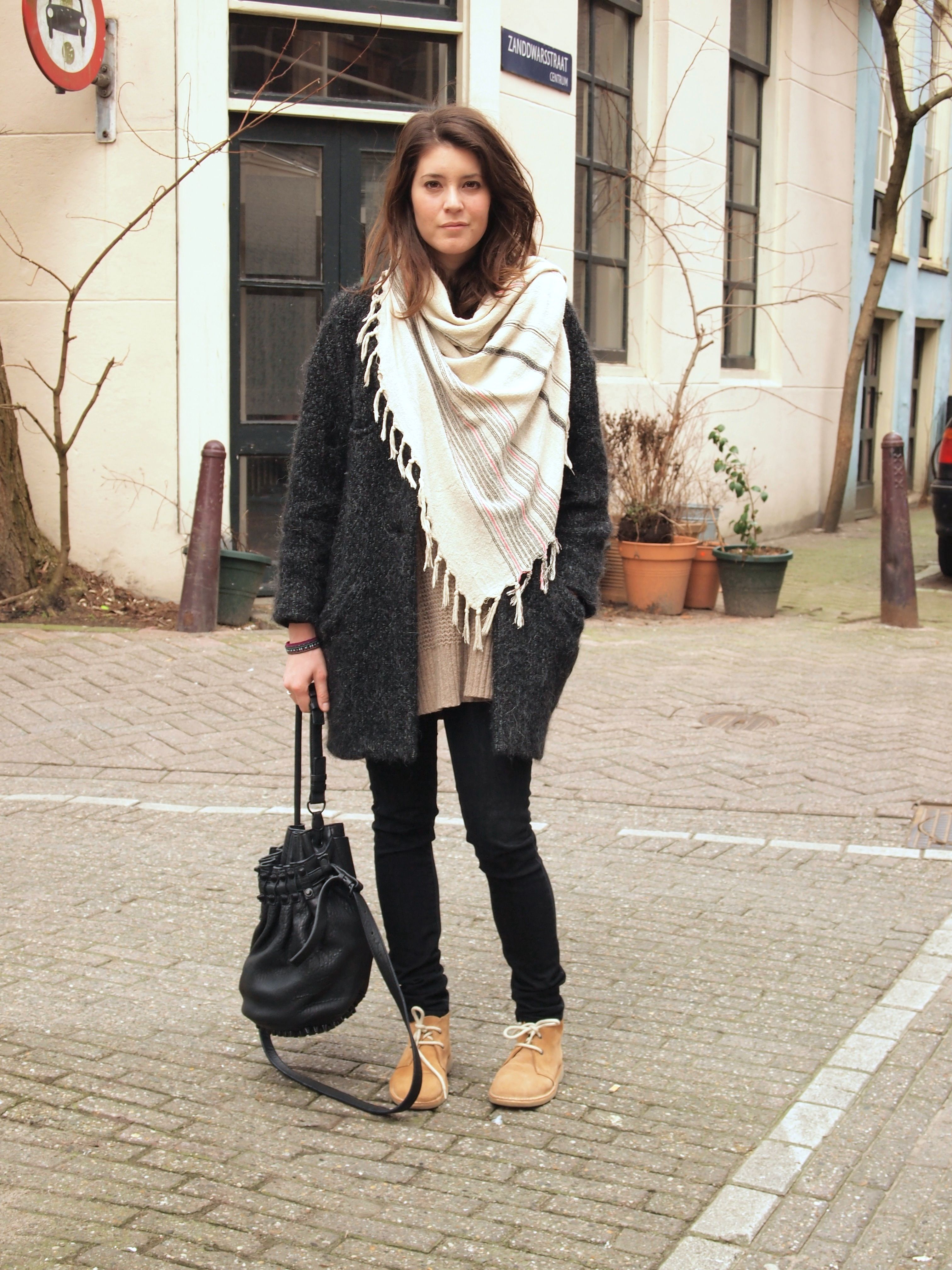 outfit, comfy, isabel marant, scarf | desert boots | pinterest