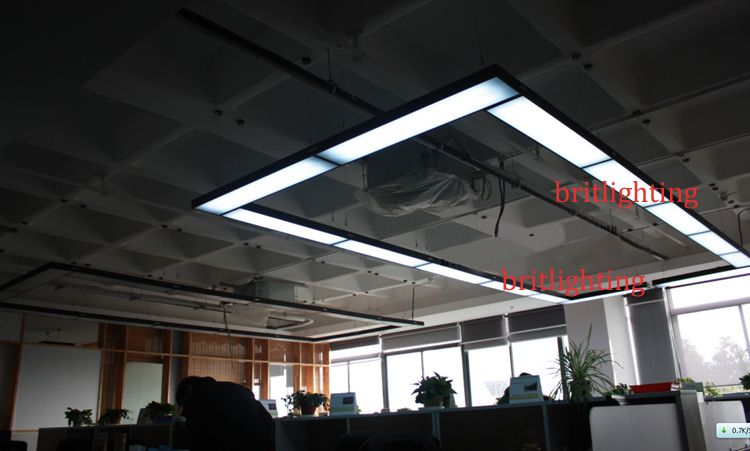 Black Pendant Lights Modern Office Hanging Lamps Led Meeting Room Linear Suspension Energy Efficiency