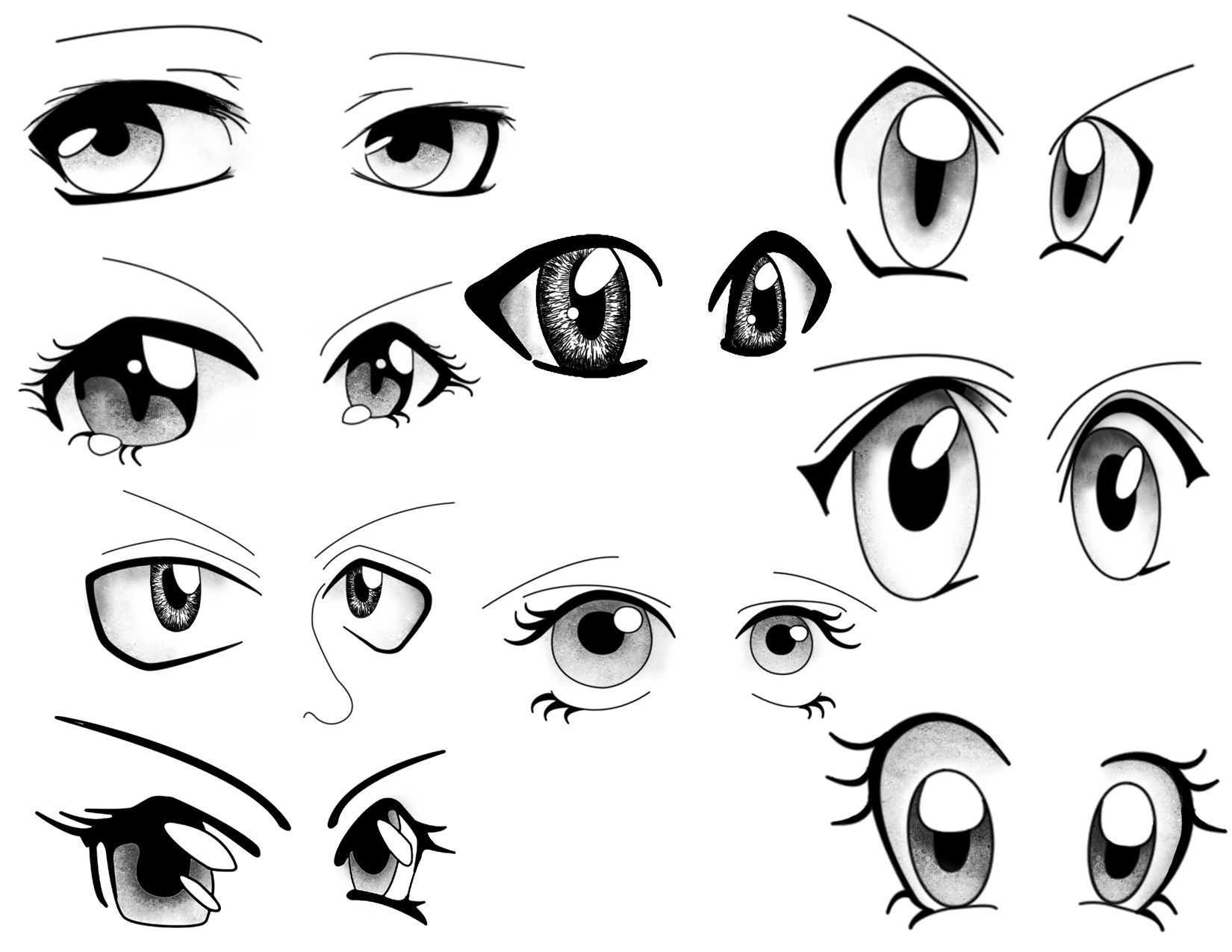 Line Drawing Cartoon Face : Manga facing right dibujo anime pinterest