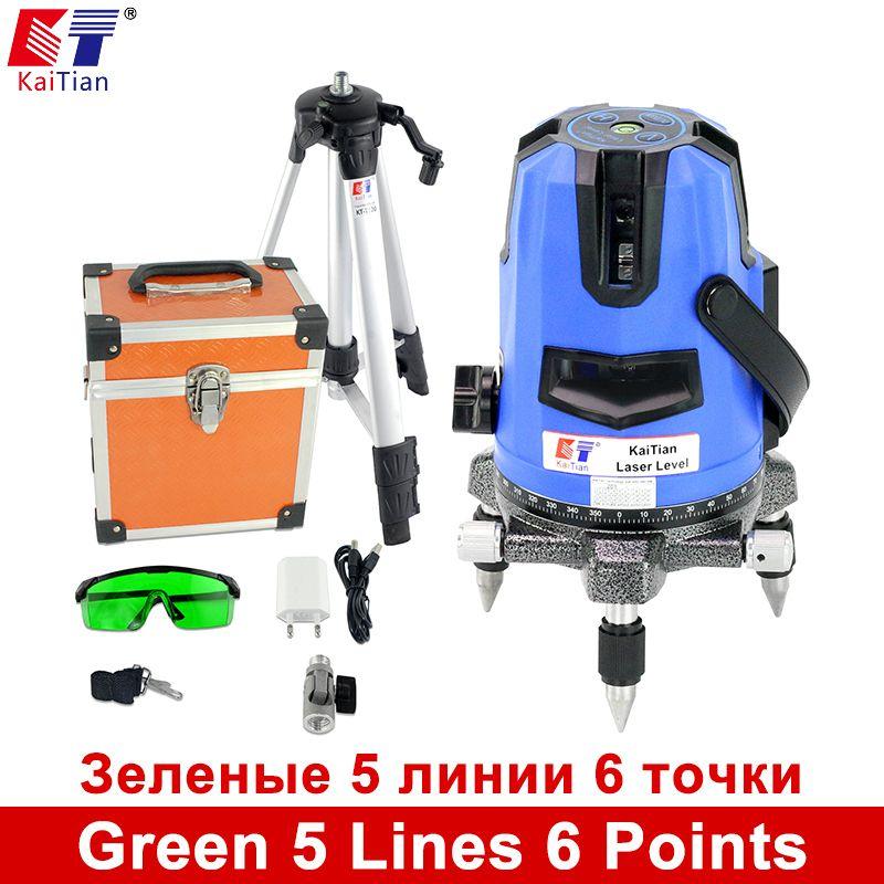 Us 159 12 Kaitian 5 Lines 6 Points Green Laser Level Tripod Outdoor Tilt Function 532nm Lazer 532nm Function Green Kaitian Laser Lazer Level Lines