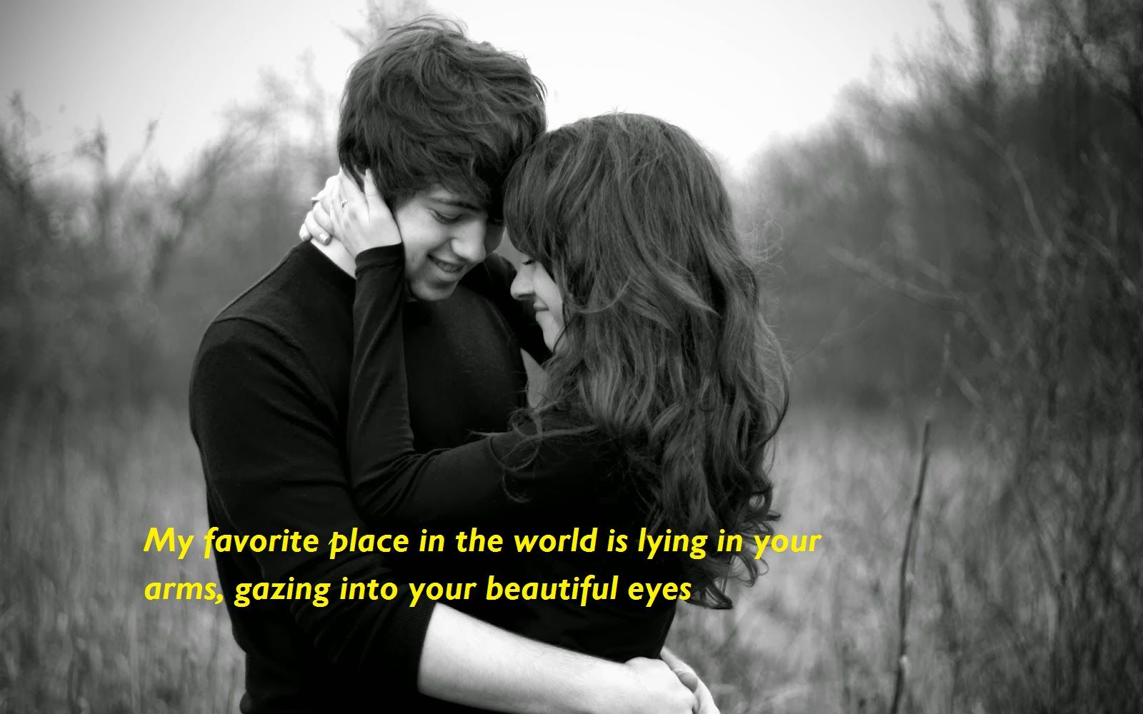 My Favorite Place In The World Is Lying In Your Arms Gazing Into