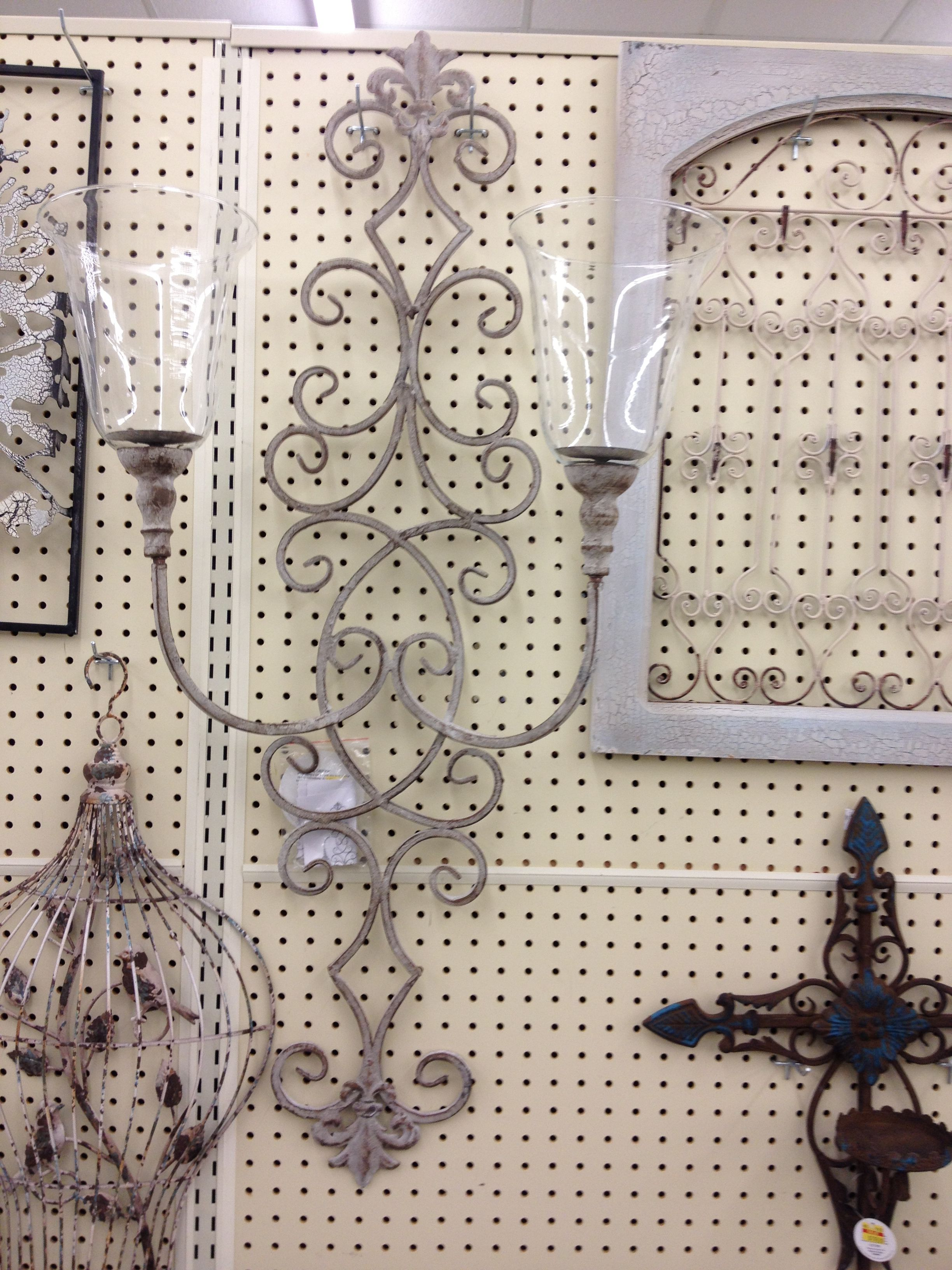 Pair of wall candle holder sconces $43 each clearance ... on Hobby Lobby Wall Candle Sconces Wall Candle Holders id=20523