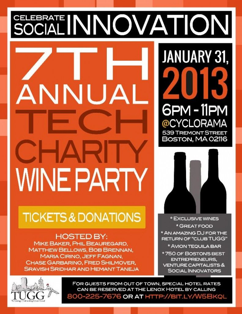 Post For Tugg S 7th Annual Tech Charity Wine Party Business Grants Social Entrepreneurship Small Business Loans