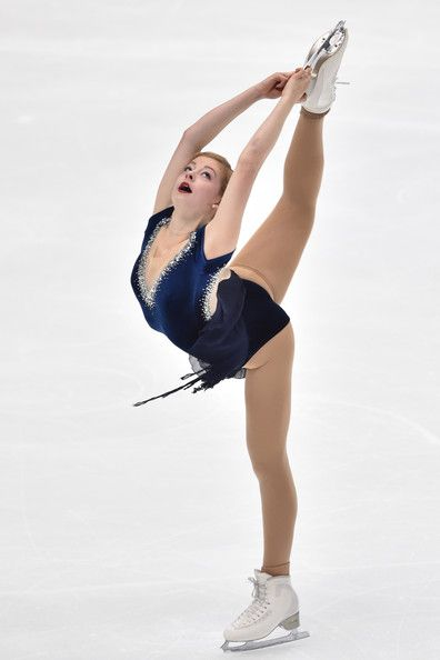 Gracie Gold of the USA competes in the Ladies Short Program during day one of…