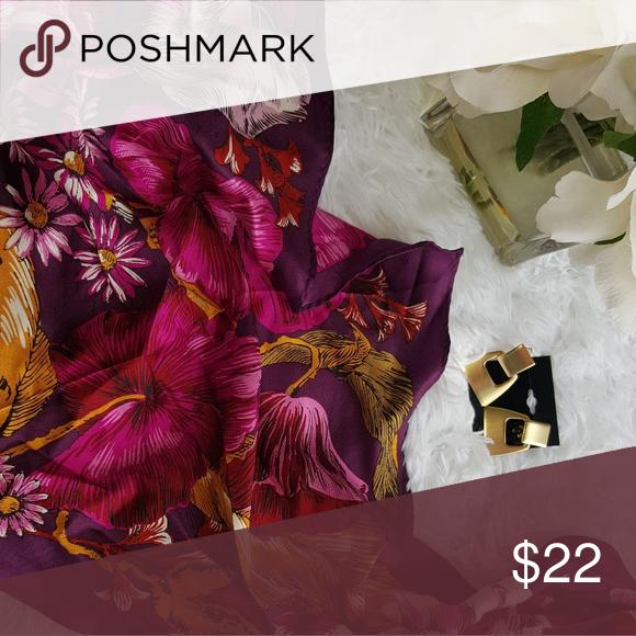 Echo 100 Silk Scarf Nwt Nwt In 2020 Beautiful Silk Scarves Silk Scarf