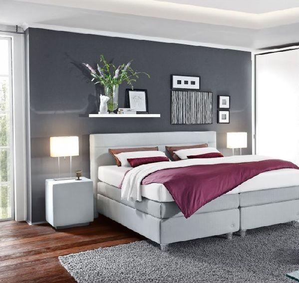 Bett Stoffbezug Hellgrau #Schlafzimmer #Schlafzimmerideen #Einrichtung