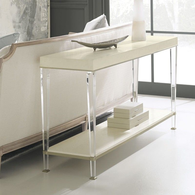 This is a tall, slender console table with a style all its