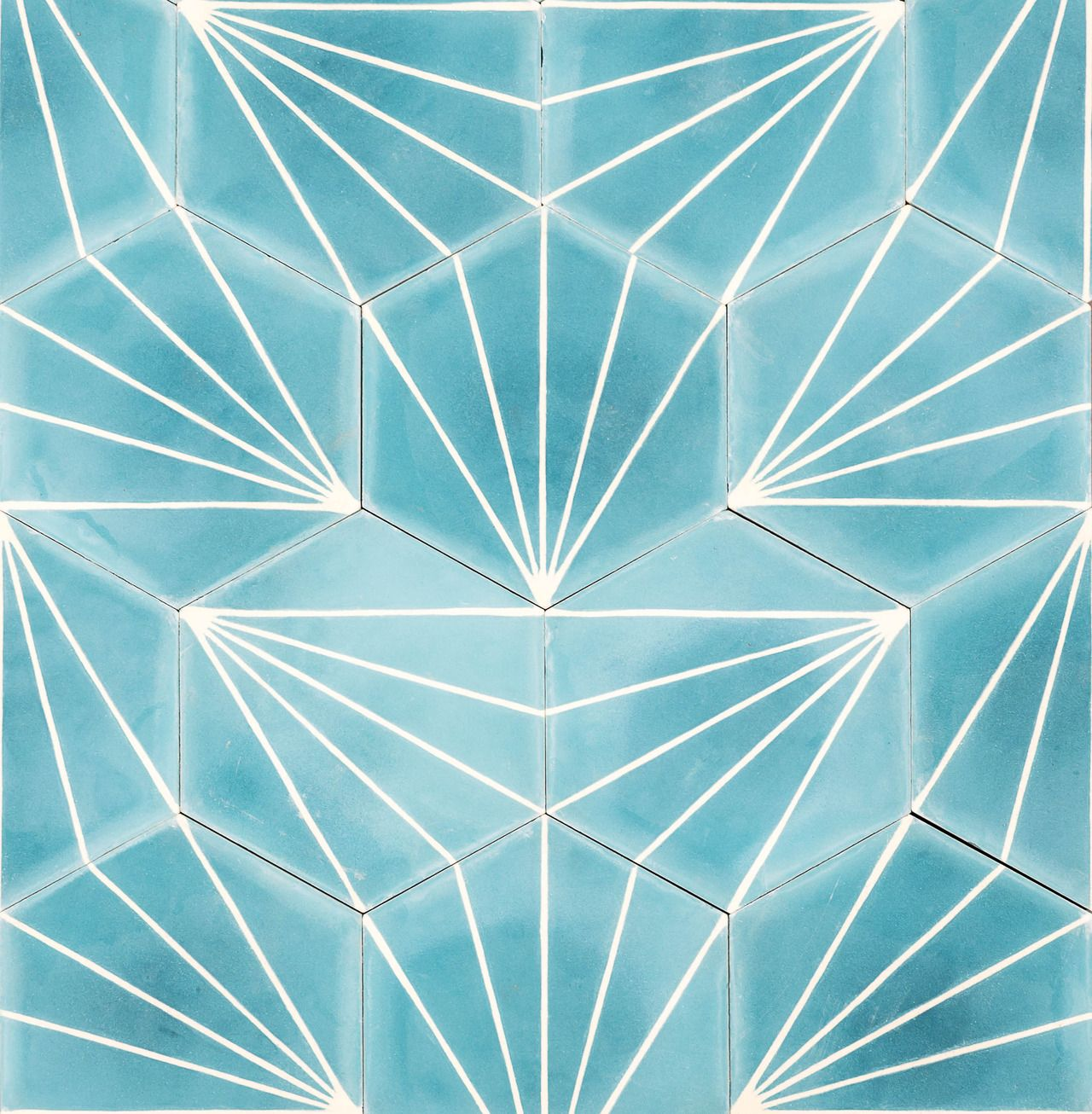 Azure Dandelion Tile Marrakech Design Geometric Tiles