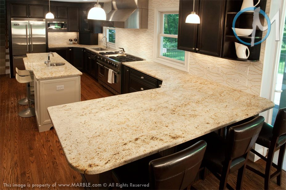 Superb This Kitchen Utilizes Colonial Gold With Very Straight Simple Angles On The  Peninsula, As Well · Granite KitchenGranite CountertopKitchen ...