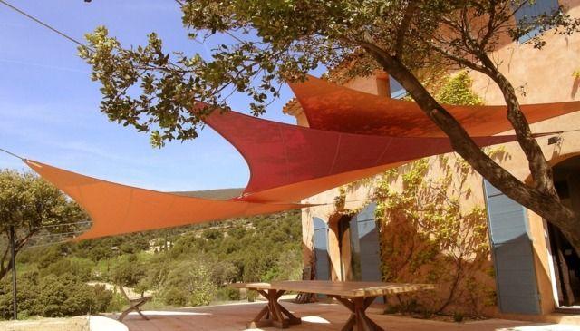 terrasse sonnenschutz ideen sonnensegel selber bauen dreieckig garten. Black Bedroom Furniture Sets. Home Design Ideas