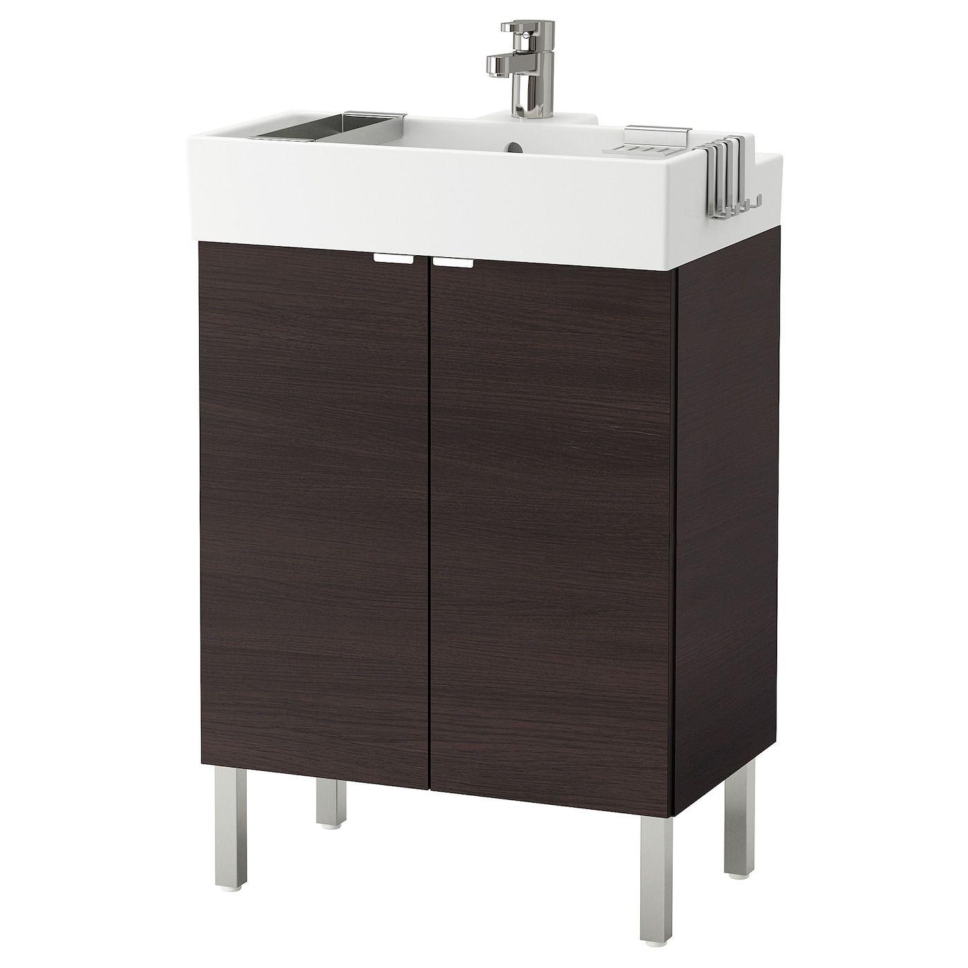 IKEA LILLÅNGEN Bathroom vanity w 2 doors blackbrown