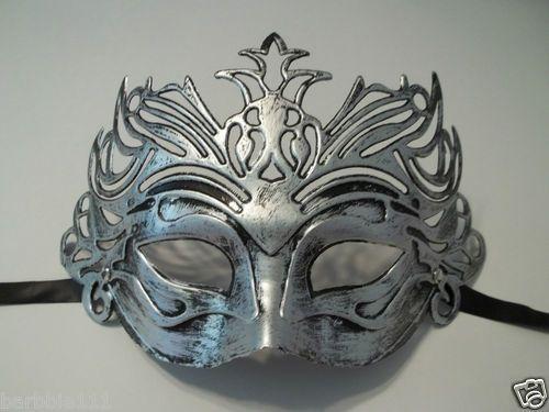 White SIlver Men/'s Venetian Mask Masquerade Laser Cut Mardi Gras Wedding Prom