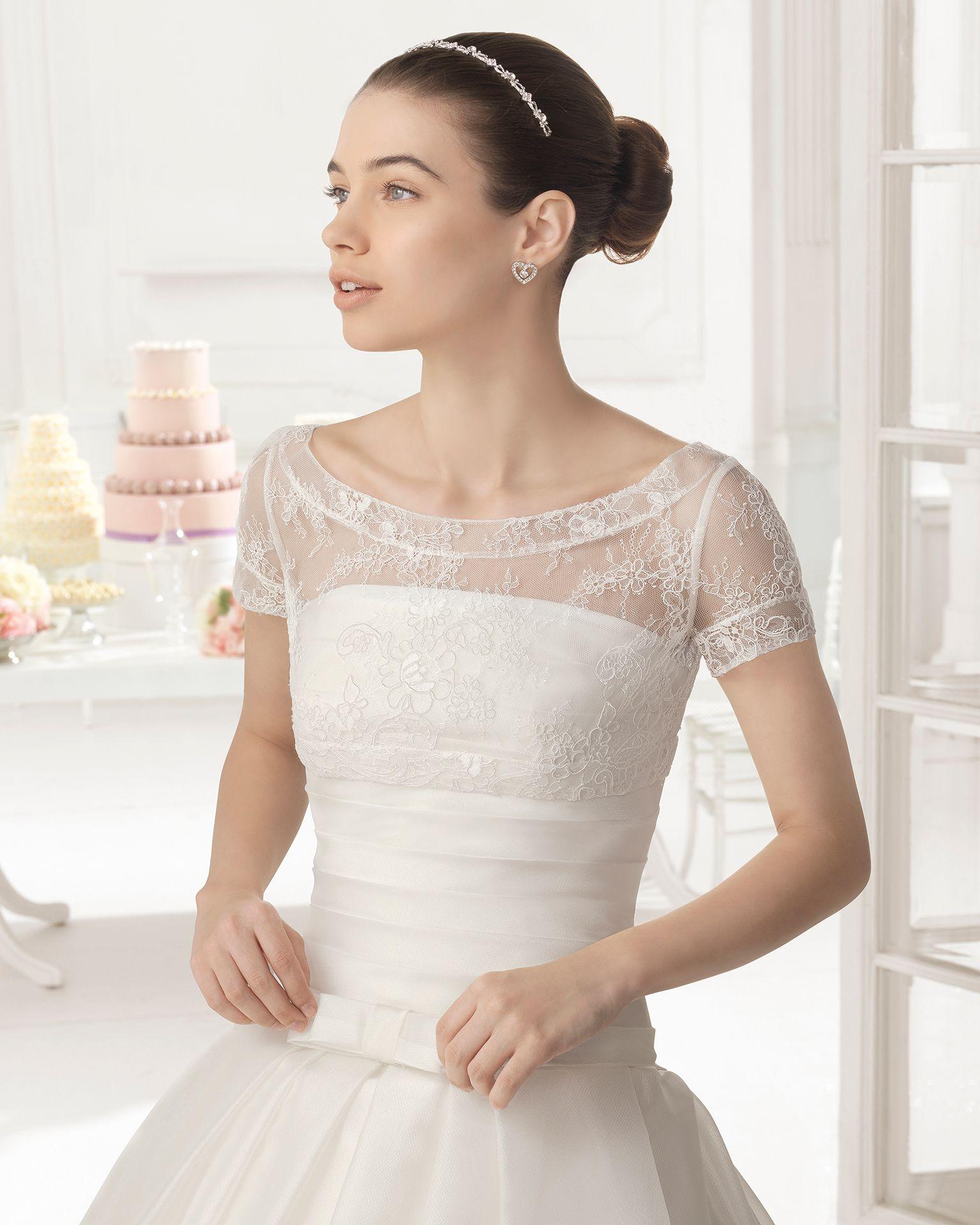 Orlando vestido de novia tejido gazar- Aire Barcelona   Wedding ...