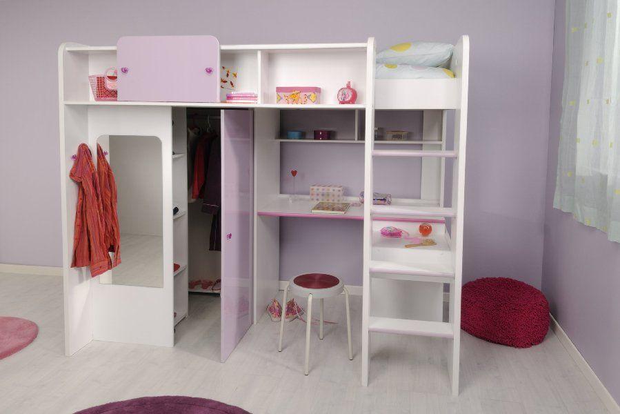Kinderzimmer Madchenecke Hochbett Mit Kleiderschrank Schreibtisch