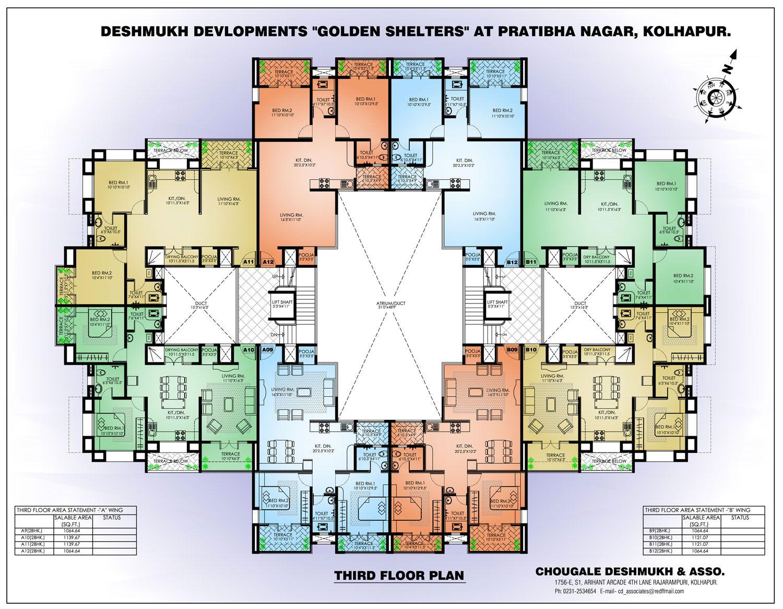 4 Bedroom Apartment Floor Plans Apartment Building Floor In 2020