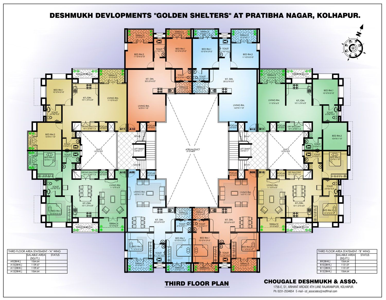 Building Apartment Complex Random Floor Plan Small Free ...