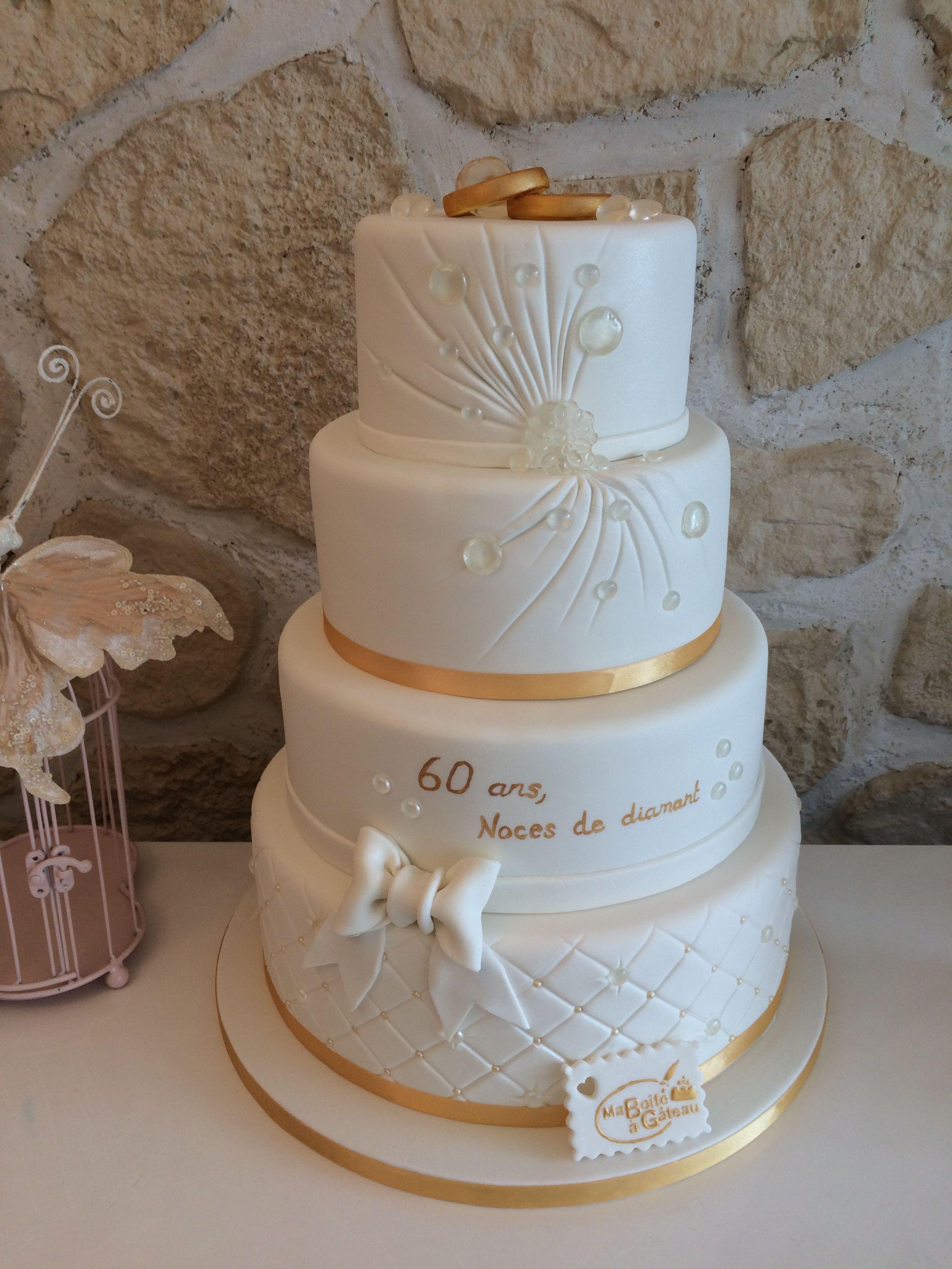 60 Ans De Mariage Noce De : mariage, Anniversaire, Mariage,, Diamant, Noces, Diamant,, Gâteau