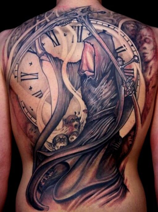 Running Out Of Time Art Pinterest Tattoos Reaper Tattoo And