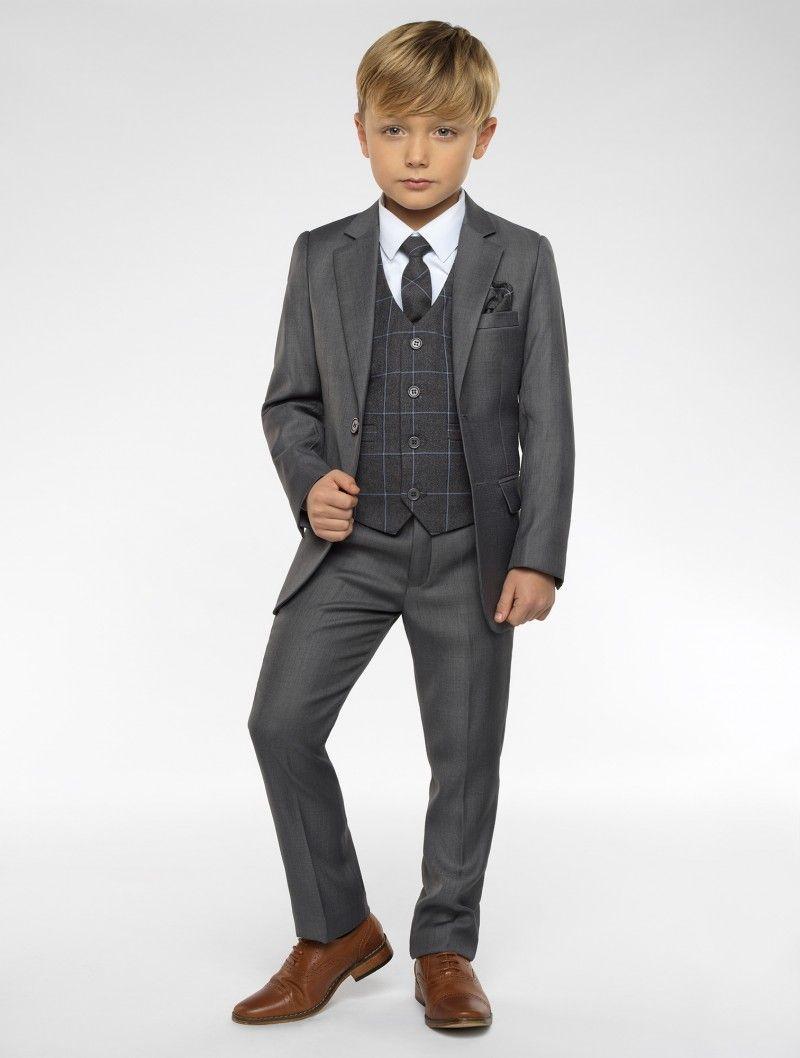 2ac6b80bc Boys grey suit - Sampson in 2019