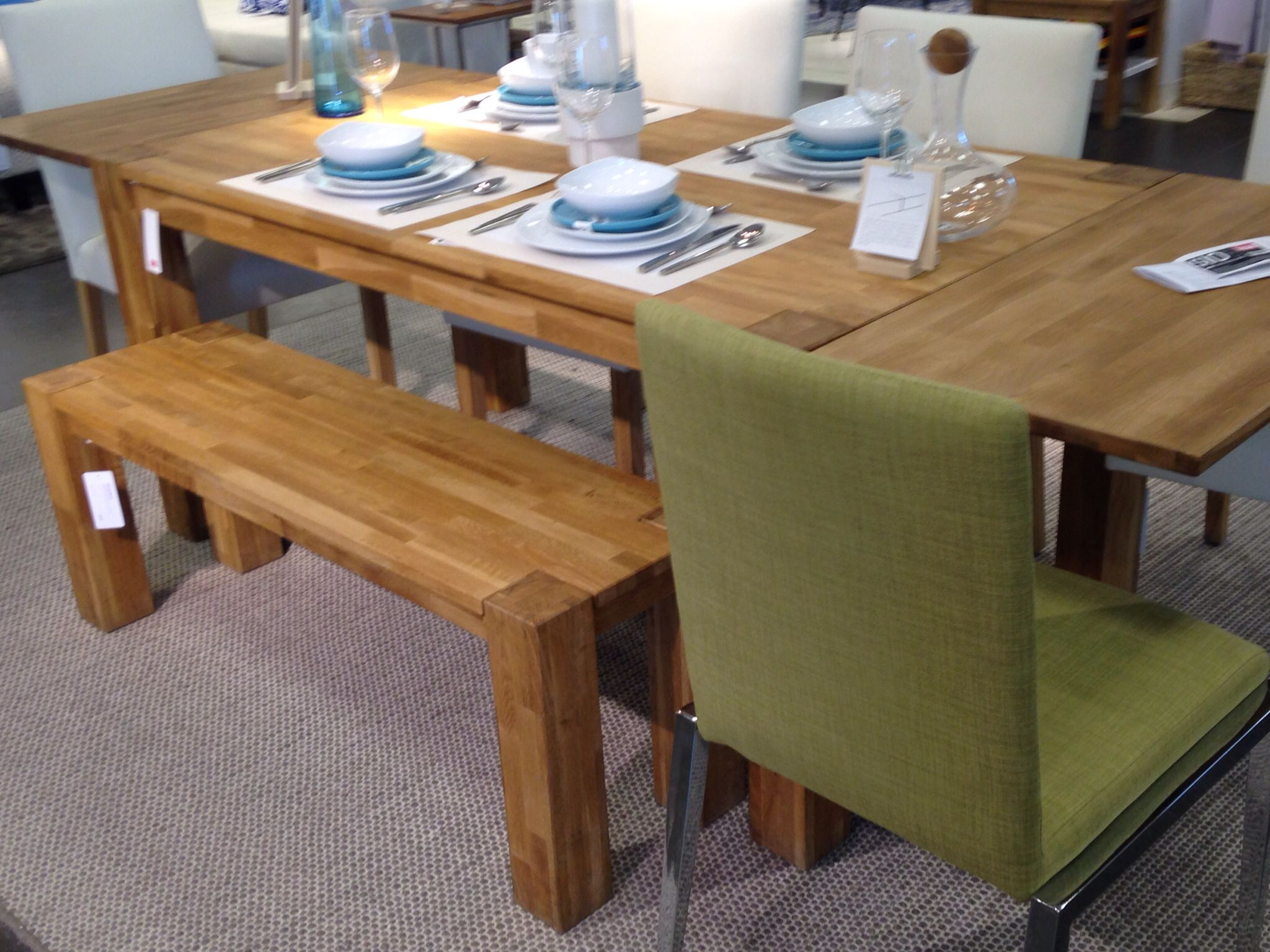 Merveilleux Harvest Table (eQ3) With Chartreuse Dining Chair (Bouclair)