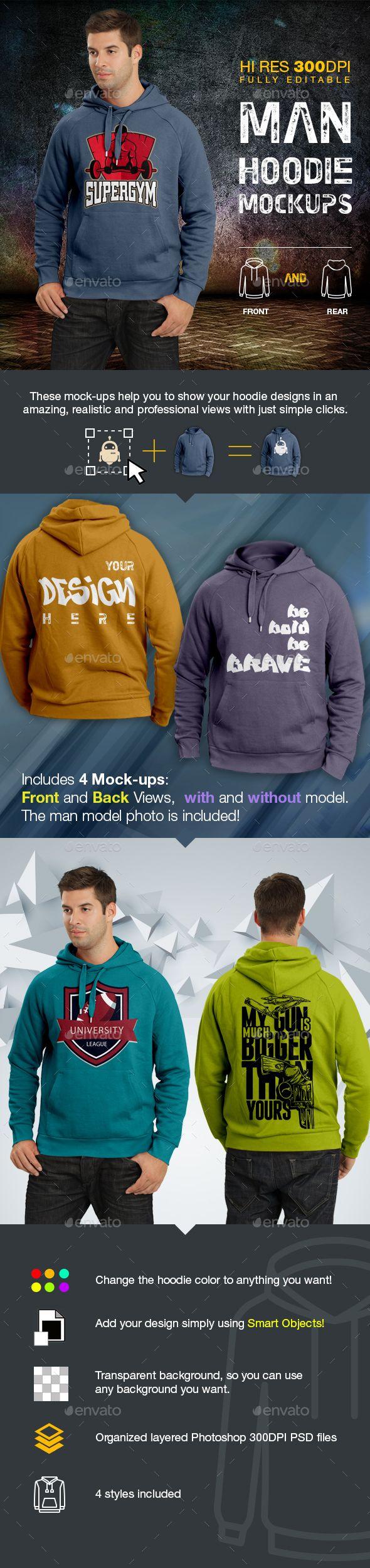 Download Men Hoodie Mockups Hoodie Mockup Clothing Mockup Hoodies Men