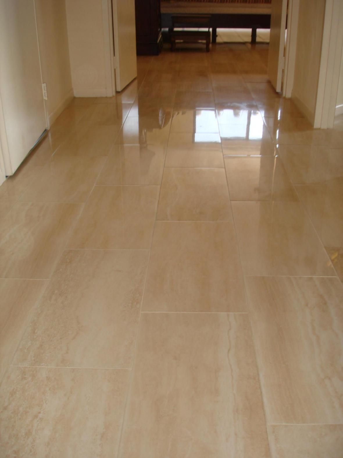 Porcelain kitchen floor tile - Porcelain Flooring Porcelain Tile Floor In Hallway