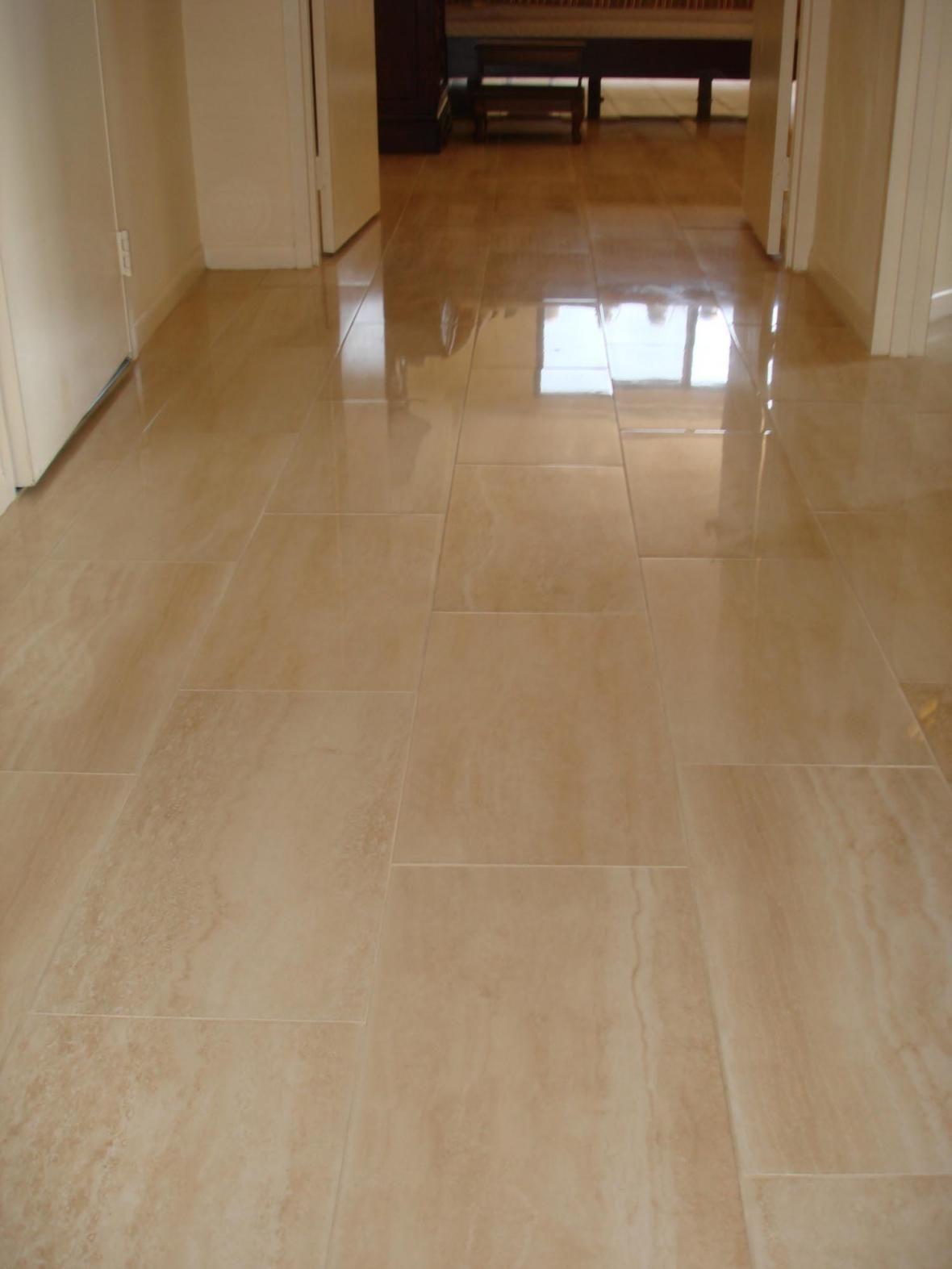 porcelain flooring  Porcelain tile floor in hallway