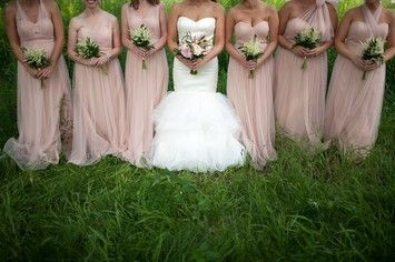 Cameo pink wedding dress
