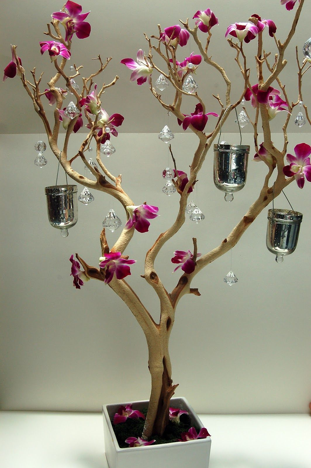 Manzanita tree centerpieces for weddings