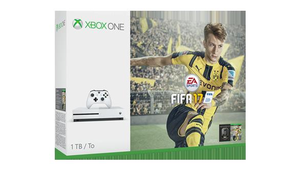 Xbox One S Console White FIFA 17 Bundle (1TB)