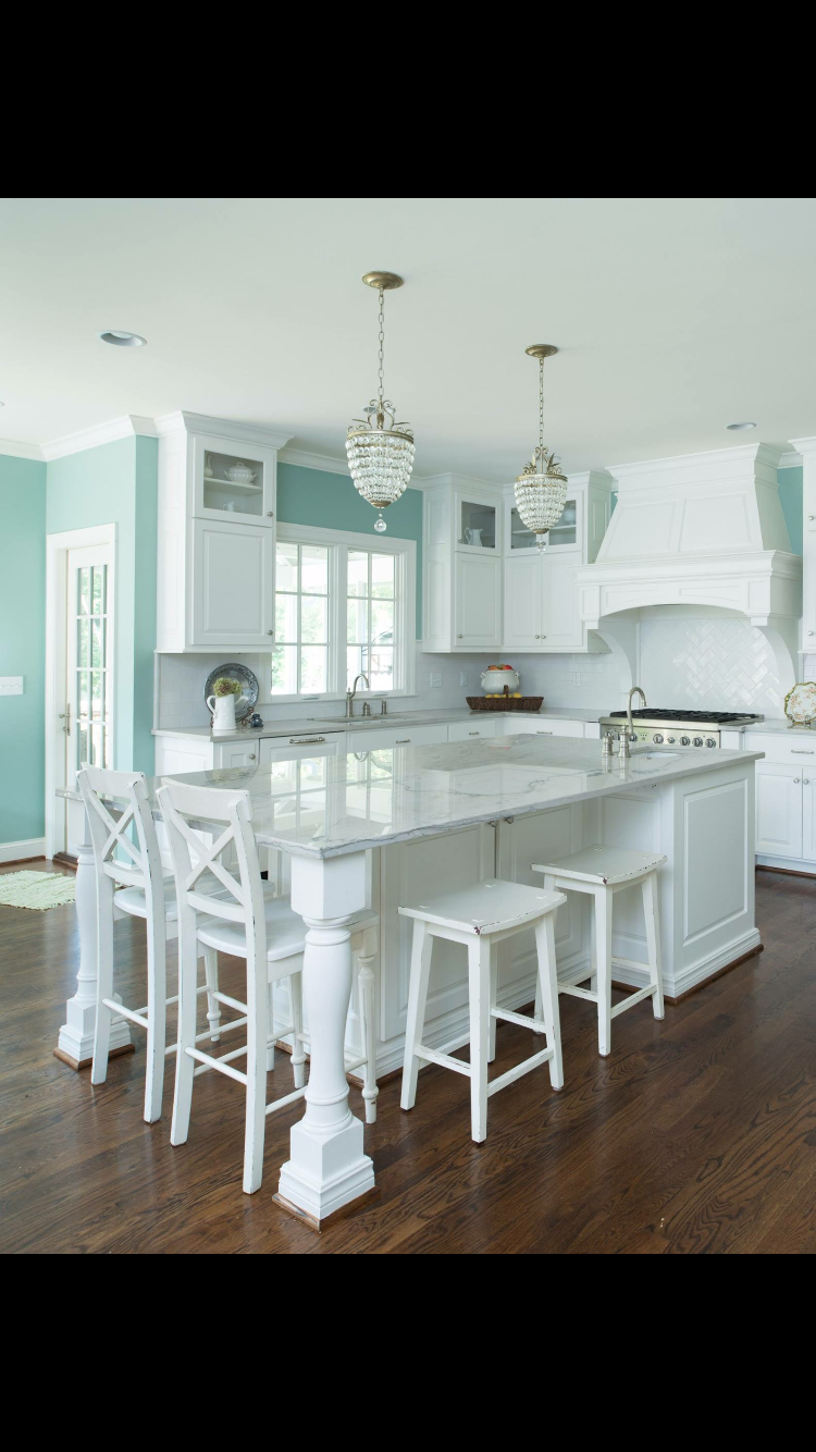 Island. I like the combination of high and low stools | House ...