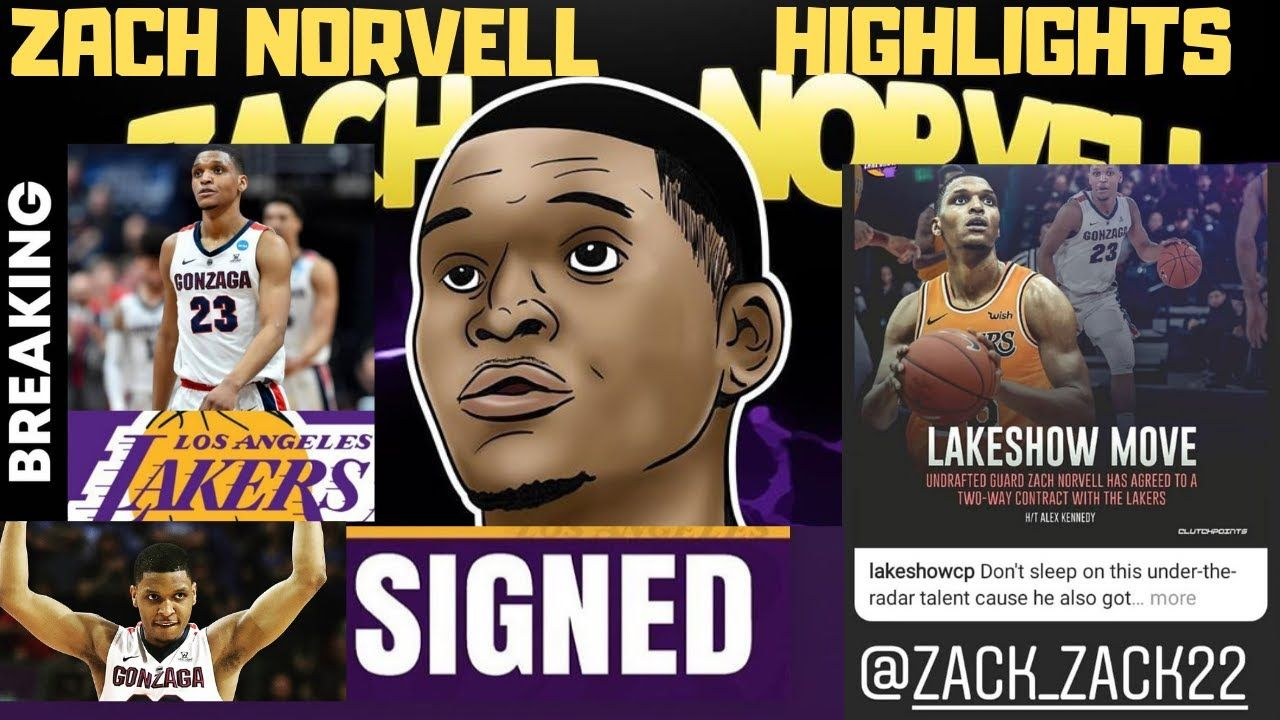 Zach Norvell Jr Signs Two Way Contract With Los Angeles Lakers Highlig In 2020 Lakers Highlights Los Angeles Lakers Lakers