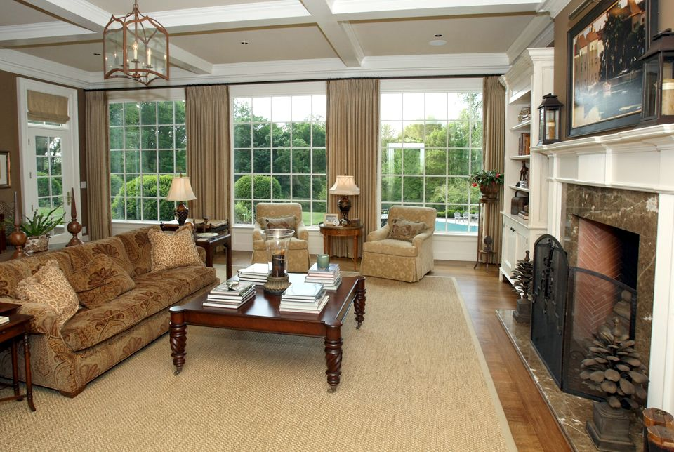 Beautiful Family Room Addition With Large Paned Windows Fireplace