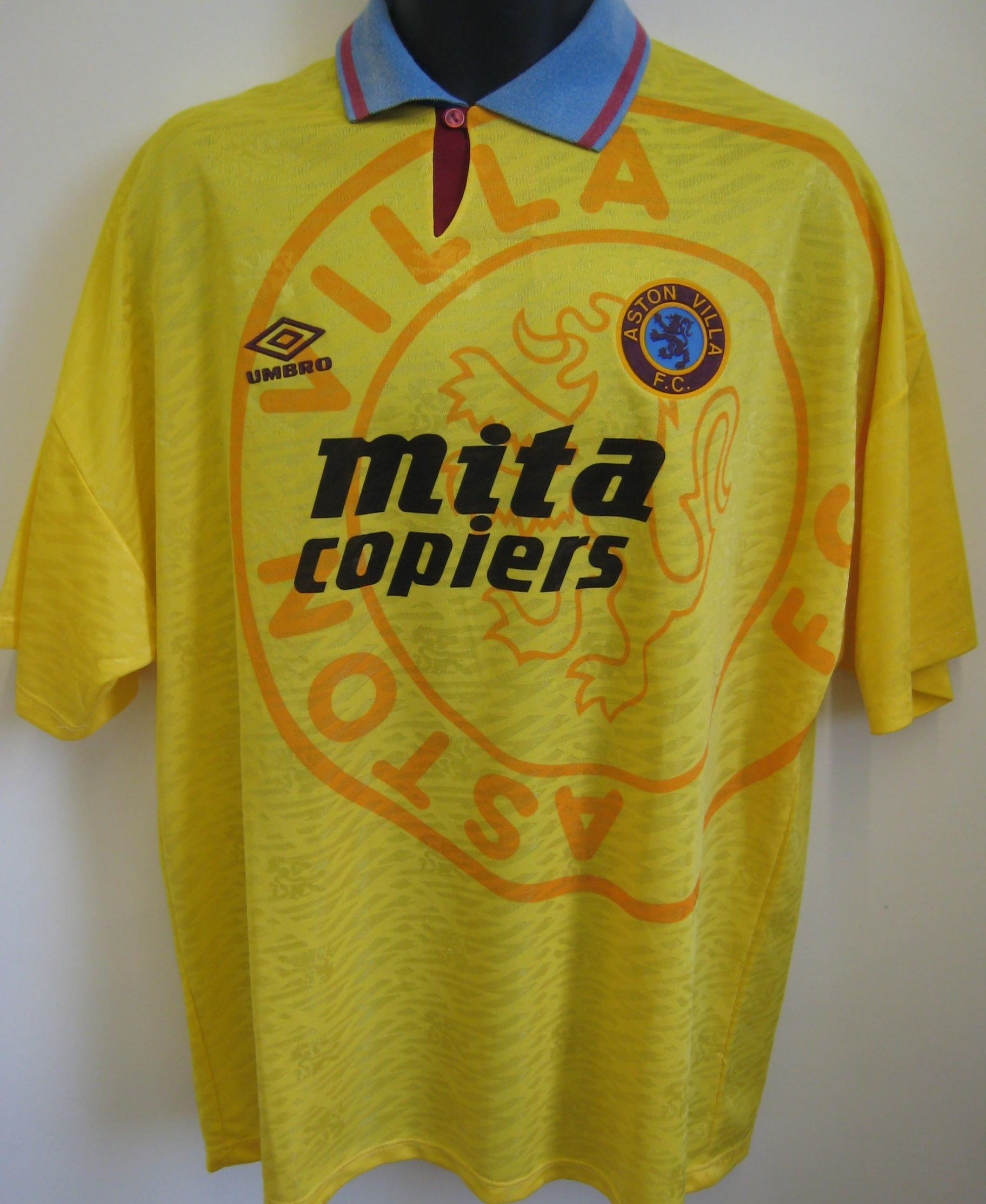 6267c9568209 Classic Aston Villa away shirt by Umbro Aston Villa Fc, Retro Football  Shirts, European