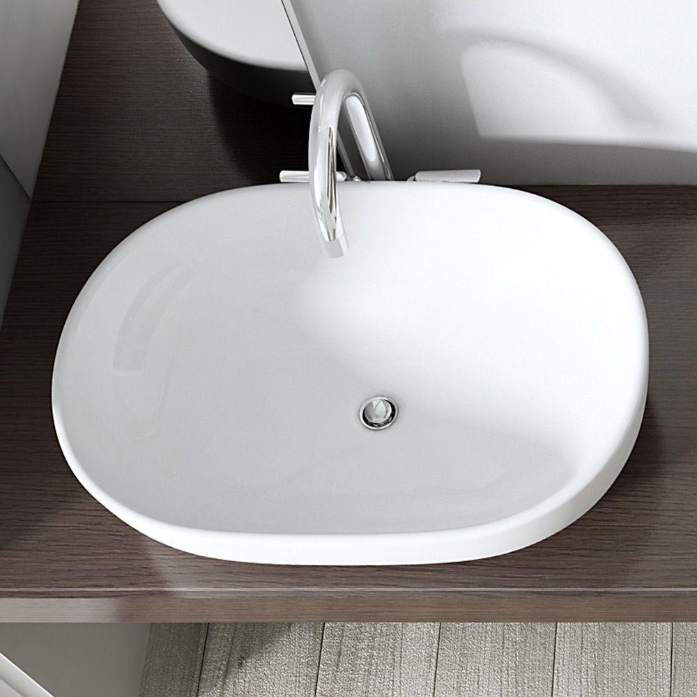 Bathroom Ceramic Counter Top Wash Basin