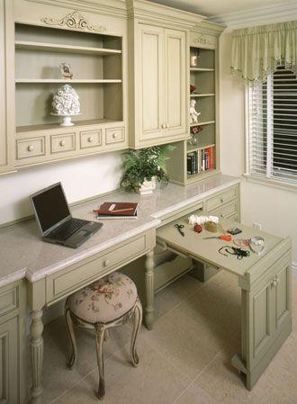 Classy sewing room/craft room/home office. glendadesigns.com ...