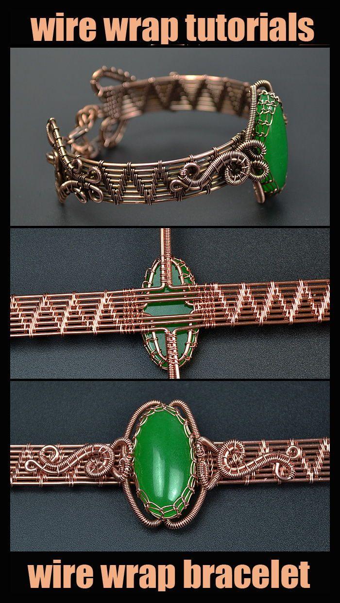 Photo of Wire wrap tutorial – PDF. Wire Wrapped Bracelet