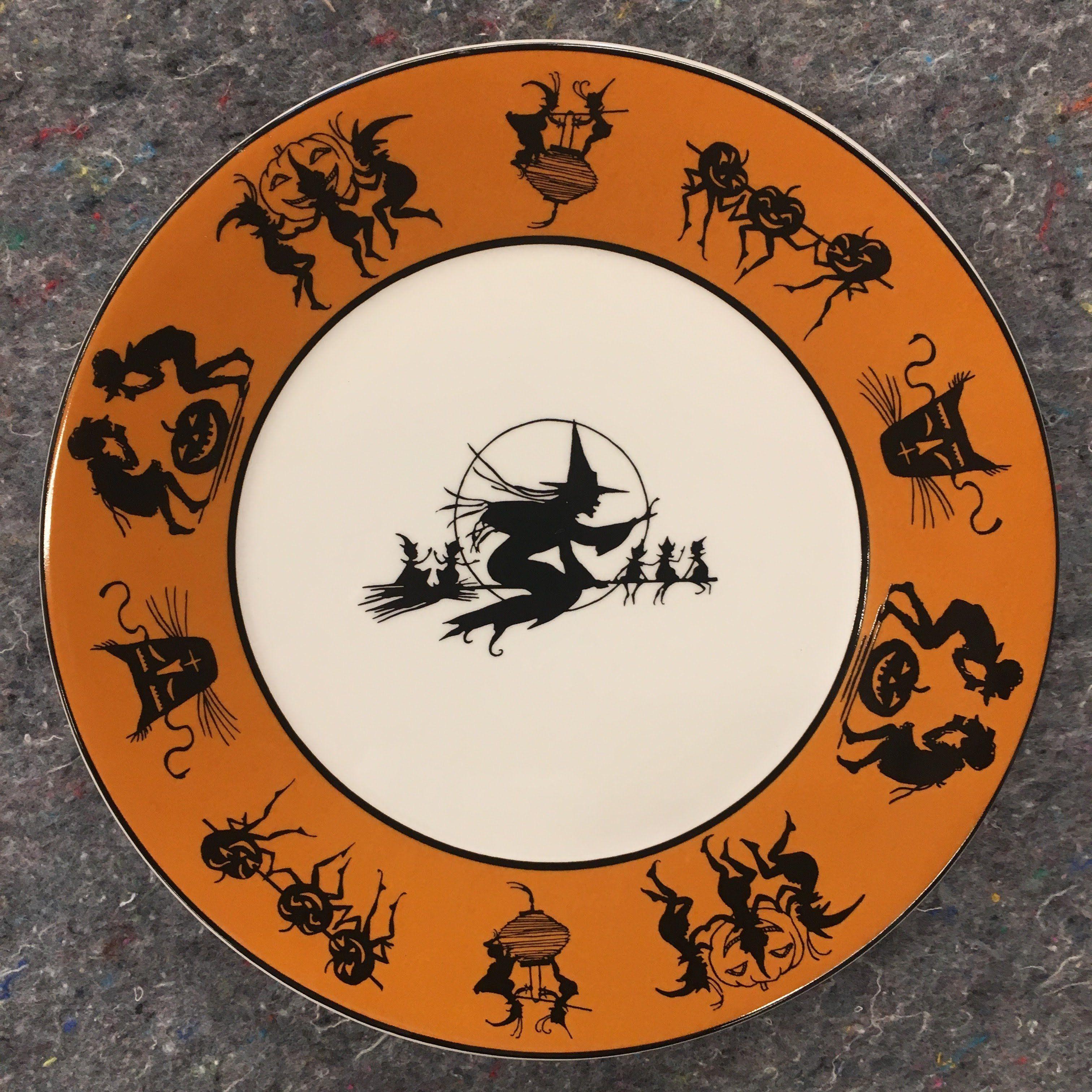 Bruce Elsass Collection Bethany Lowe Hobgoblins Porcelain Dinner Plate Halloween Plates Halloween Dinnerware Vintage Halloween Crafts