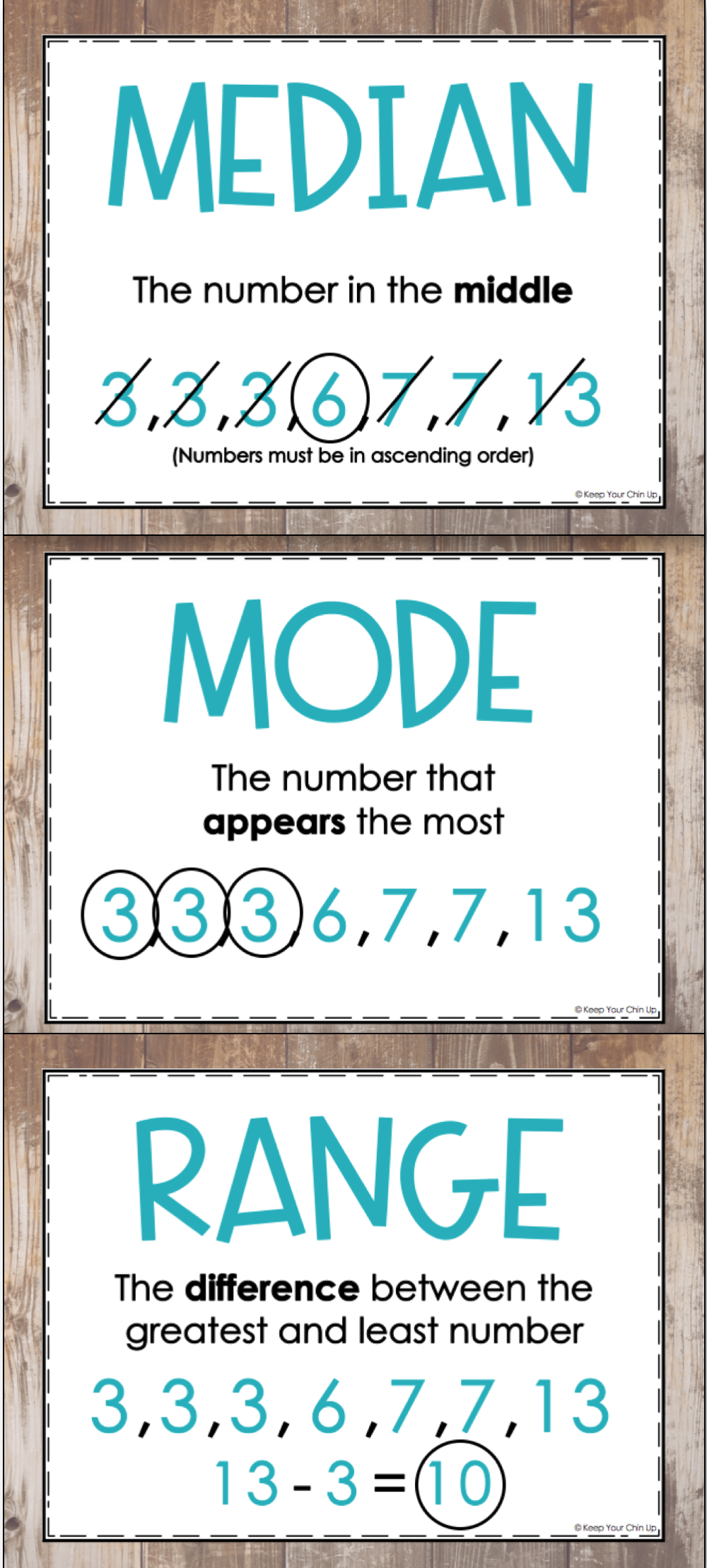 Mean, Median, Mode, and Range Posters | worksheets | Pinterest ...