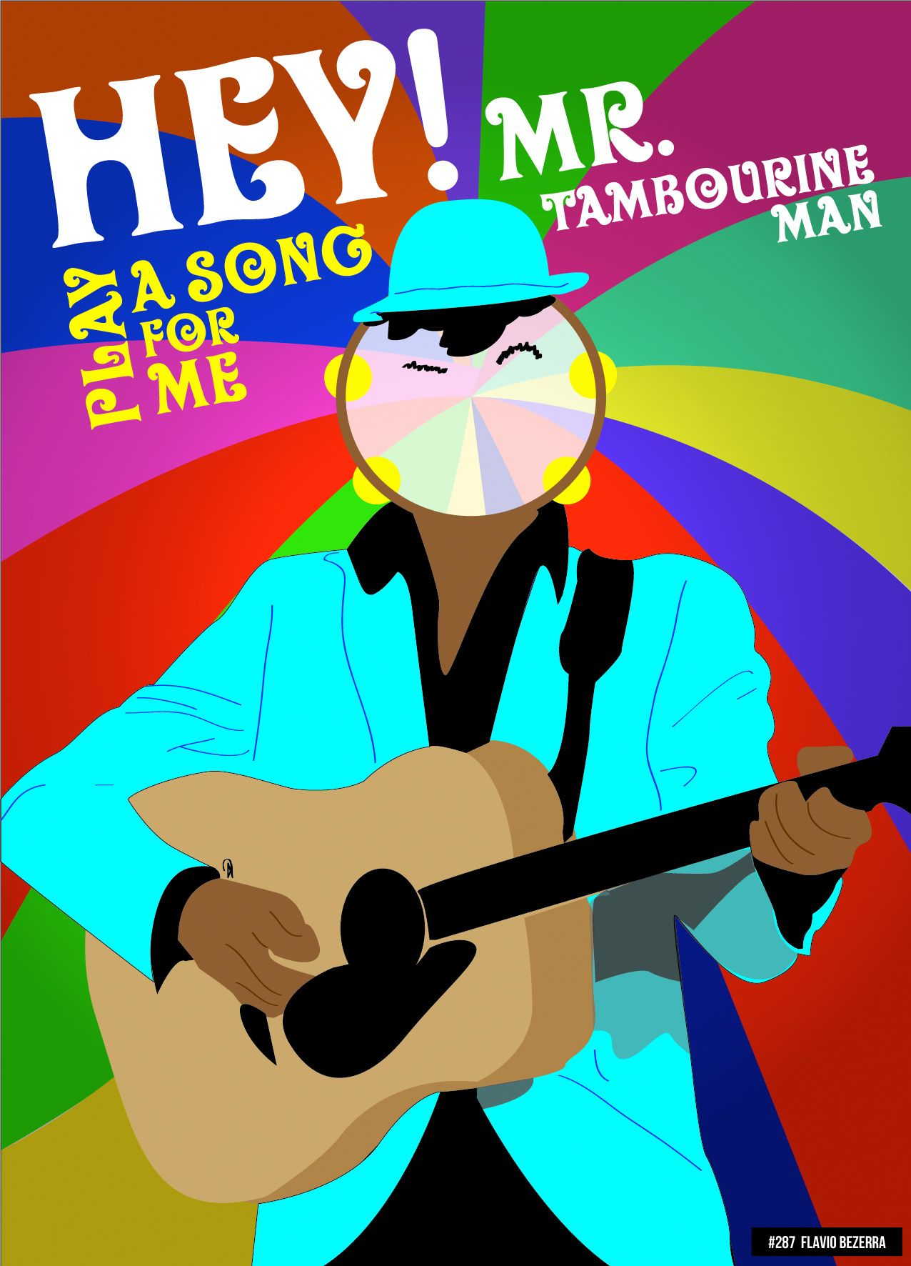 hey mr tambourine man play a song for me i m not sleepy and