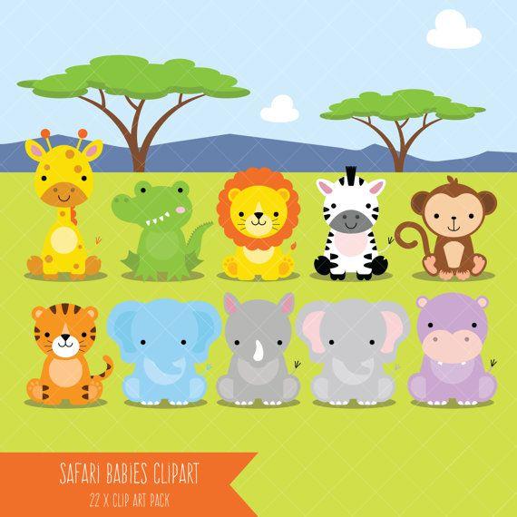 Safari Baby Animals Clipart Jungle Animals Clipart Zoo Animals Clipart Safari Baby Animals Safari Baby Baby Animals