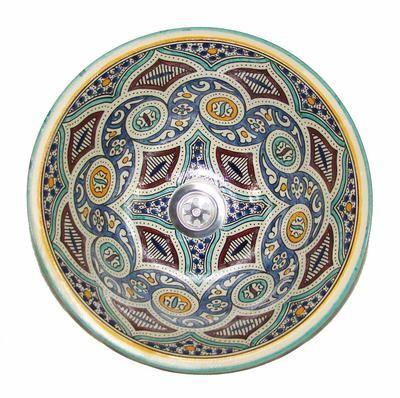 Vasque de lavabo marocain en céramique, 85 € | ARTISANAT MAROCAIN ...